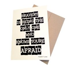 Bravery  Military Greeting Card by Shopmailcall on Etsy, $5.00
