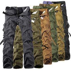 Décontractés pour hommes style de combat militaire de l'armée camo pantalon de travail pantalon cargo