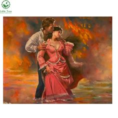 2017 NEW DIY 3D Diamond Painting Men and women Dance Art household decoration Mosaic Embroidery resin craft Scroll Painting #Affiliate