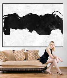 Large abstract painting, extra large wall art, large abstract art canvas, original abstract painting, acrylic painting abstract, black white