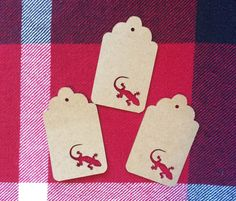 Die Cut Gecko Tag by NatureCuts on Etsy