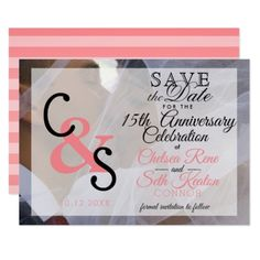 Save The Date Modern Day Love - Coral Card - wedding invitations cards custom invitation card design marriage party