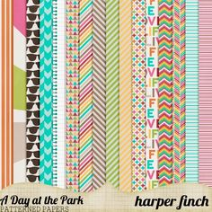 Quality DigiScrap Freebies: A Day at the Park paper pack freebie from Harper Finch