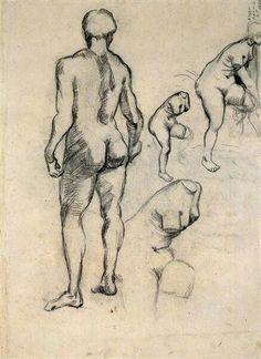 Idol And Sketches Of Venus 1886 | Vincent van Gogh
