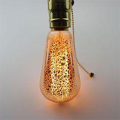 1pcs+60W+E27+Incandescent+Bulbs+ST64+Gold+Sputtering+Warm+White+Decorative+Retro+Edison+Bulbs+AC220-240V+–+USD+$+3.99