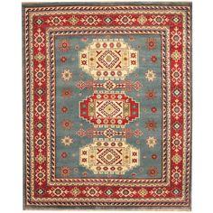 Herat Oriental Indo Hand-knotted Kazak Light / Red Rug