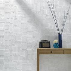 Graham and Brown Paintables Superfresco Wallpaper - Squares Pattern at DesignPublic.com