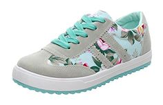 perfect Kiwii Women Spring And Summer Korean Style Lace-up Sweet Flower Breathable Sports Sneaker