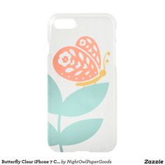 Butterfly Clear iPhone 7 Case