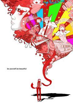 be yourself. be beautiful by rosiecoleman.deviantart.com on @DeviantArt