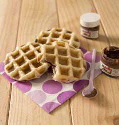 Photo de la recette : Gaufres feuilletées au nutella