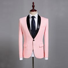 Pink clothes men marriage suits designs masculino homme stage costumes for singers jacket men blazer dance star style dress. Product ID: Mens Summer Wedding Suits, Prom Suits For Men, Dress Suits For Men, Slim Fit Dresses, Mens Suits, Suit For Men, Blazers For Men Casual, Casual Blazer, Pink Blazers