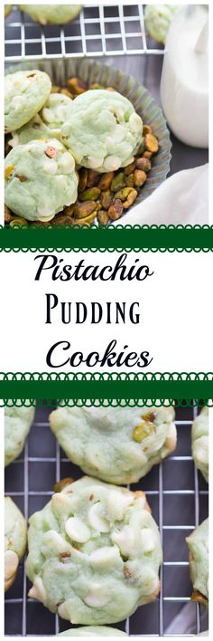 Pudding cookies are the best!  They are easy to prepare and they help cookies bake up so nice and soft!  This pistachio and white chocolate cookies are absolutely delightful! via @Lemonsforlulu
