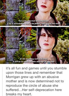 She is such a good mother and a wonderful character. Dragon Age Memes, Dragon Age Funny, Morrigan Dragon Age, Grey Warden, Dragon Age Origins, Dragon Age Inquisition, Geek Out, Mass Effect, Skyrim
