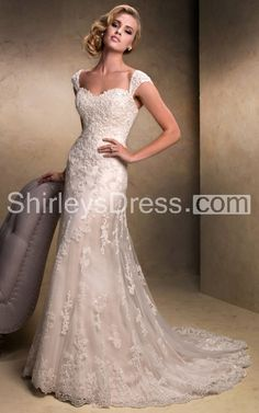 Delicate Fit and Flare Beaded Lace Sheath Dress