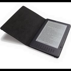 """Black Leather Cover for Kindle Brand new in Box. 9.7"""" Accessories Tablet Cases"""