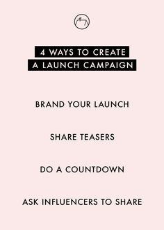 Launch it Big! Here are 4 ways to create a launch campaign for your new product, service or business. Click through to read the full post.