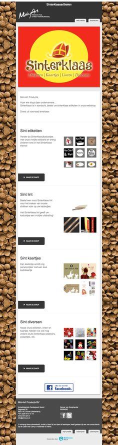 Op zoek naar decoratieve sinterklaasartikelen voor uw verpakkingen? Mail Marketing, Campaign