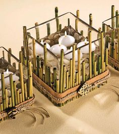 Glass Bamboo Centerpieces