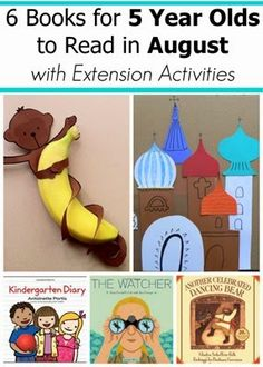 August Book Recommendations for 5 Year Olds #readingactivities - We love the idea of combining reading to your child with a fun activity! Builds reading and creative skills