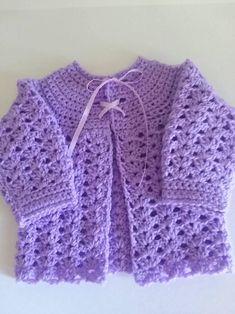 Crochet Baby Sweater Pattern, Baby Romper Pattern, Crochet Baby Jacket, Crochet Baby Sweaters, Baby Sweater Patterns, Crochet Baby Clothes, Baby Patterns, Crochet Girls, Crochet For Kids