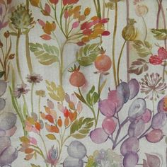 Hedgerow Linen fabric from Voyage Maison Country collection