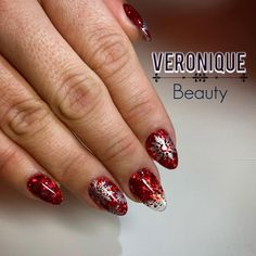 Red Glitter, Glitter Nails, Red Christmas, Class Ring, Beauty, Glitter Accent Nails, Beleza, Gem Nails