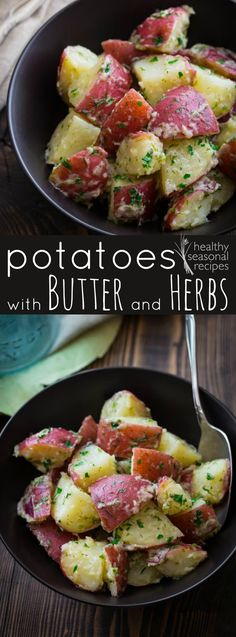 potatoes with butter and herbs - Healthy Seasonal Recipes