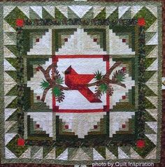 Image result for Christmas log cabin quilt pattern