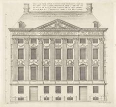 Vooraanzicht van het Trippenhuis te Amsterdam, Johannes Vinckboons, 1664. Het Trippenhuis werd gebouwd voor de vader en de oom van Margaretha Trip.