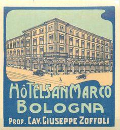 """BOLOGNA / ITALY"". Great ART DECO graphic and design. | eBay!"