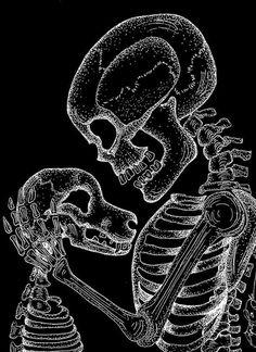 "Cindi Taylor-Johnson ""Man's Best Friend"" (inspired by Lisa Luree) Butterfly Songs, Dog Skull, Dog Skeleton, 4 Tattoo, Skull Wallpaper, Sugar Skull Art, Halloween Backgrounds, Animal Quotes, Dark Art"