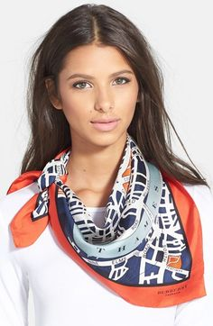 Burberry Prorsum 'London Map' Silk Scarf available at #Nordstrom