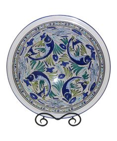 Another great find on #zulily! Aqua Fish Large Serving Bowl by Le Souk Ceramique #zulilyfinds