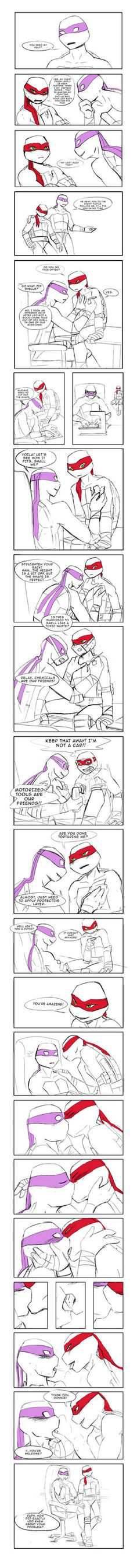 Raph's chest crack smut by NeatTea