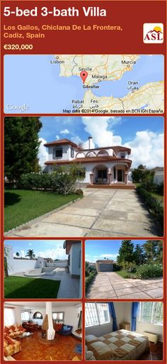 5-bed 3-bath Villa in Los Gallos, Chiclana De La Frontera, Cadiz, Spain ►€320,000 #PropertyForSaleInSpain