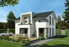 Edition 3 V2 - Bien Zenker - http://www.hausbaudirekt.de/haus/edition-3-v2/ - Fertighaus als Einfamilienhaus Modernes Haus Stadthaus mit Satteldach