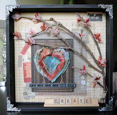 Vicki Boutin, 7gypsies 12x12 shadowbox, Postale