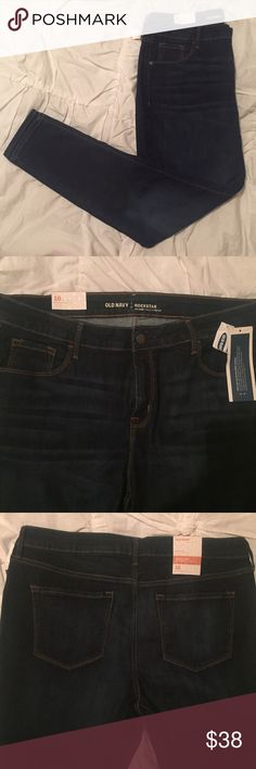 Old Navy Mid-Rise Rockstar Skinny Jeans Old Navy Mid-Rise Rockstar Skinny Jeans | NWT | size 16 | soft, medium weight denim with spandex for stretch Old Navy Jeans Skinny