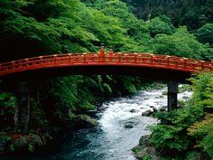 The Sacred Bridge, Daiya River, Nikko, Japan.