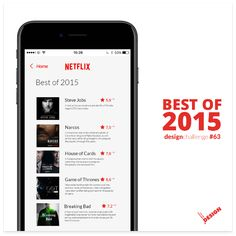 Netflix Best of the Year Concept - Mobile app design in 100 day DAILY UI CHALLENGE