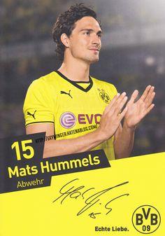 Mats Hummels Borussia Dortmund Autogramm autograph マッツ フンメルス ドルトムント