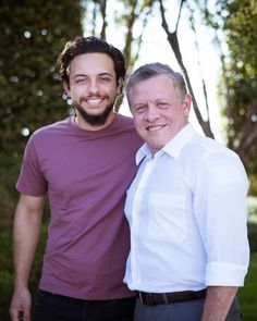 (R-L) King Abdullah II of Jordan and his son Crown Prince Hussein, pictured in August 2016. His son Crown Prince Hussein of Jordan was one of the graduating Officer Cadets from the Royal Military Academy at Sandhurst in Camberley, Berkshire on 11 August 2017. King Abdullah also graduated in the same Academy in 1981.