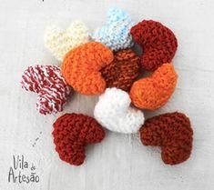 Como fazer sachês perfumados com corações de tricô.  #craft #artesanato #diy #knit