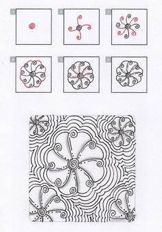 Zentangle+Patterns+Step+by+Step | zentangles step by step by qajaq