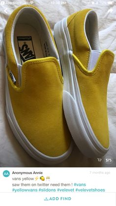 da6610d1b199f1 Spring summer 2018 love the golden yellow color of these vans. ❤ Golden