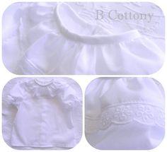 Camisa de algodão branca com bordado Inglês