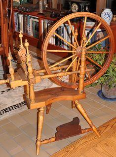 Antique Norwegian spinning wheel.