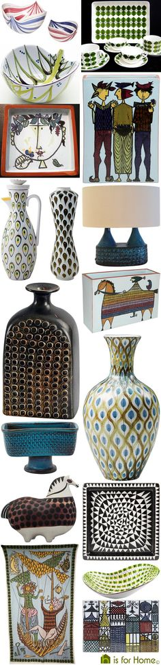 Mosaic of Stig Lindberg designs | H is for Home