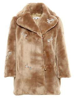Carven Crystal Embellished Faux Fur Coat - A.m.r. - Farfetch.com